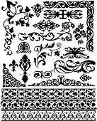 Set Of Vector Floral Design Elements
