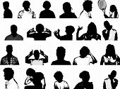 Silhouette Of Youth Collage
