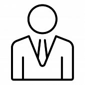 Company Boss Icon. Outline Company Boss Icon For Web Design Isolated On White Background poster