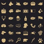 Domestic Dog Icons Set. Simple Style Of 36 Domestic Dog Icons For Web For Any Design poster