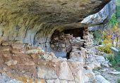 Native American Mountain Side Dwelling In Walnut Canyon National Monument In Flagstaff Arizona poster