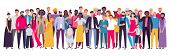 Multiethnic Group Of People. Society, Multicultural Community Portrait And Citizens. Young, Adult An poster