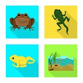 Bitmap Illustration Of Wildlife And Bog Sign. Set Of Wildlife And Reptile Stock Bitmap Illustration. poster