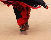 foto of rajasthani  - feet of a rajasthani dancer during performance - JPG