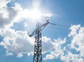 High Voltage Post Or High Voltage Tower poster