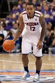 LOS ANGELES - MARCH 12: Arizona Wildcats G Lamont Jones #12 during the NCAA Pac-10 Tournament basket