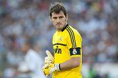 LOS ANGELES - 16 de julio: Real Madrid C.F. G Iker Casillas #1 durante el juego de World Football Challenge
