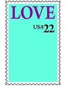 LOVE U.S. Postage Stamp Photo Frame