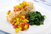 Sea Bass With Mango Salsa