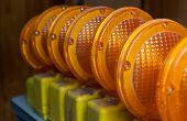 Orange Construction Lights