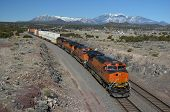 stock photo of bnsf  - A freight train passing through Flagstaff - JPG