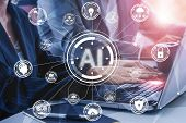 Ai Learning And Artificial Intelligence Concept.. poster
