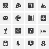 Entertainment Vector Icons Set, Modern Solid Symbol Collection, Filled Style Pictogram Pack. Signs,  poster