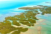 stock photo of coral reefs  - Florida Keys Aerial View  - JPG