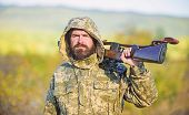 Hunting Big Game Typically Requires Tag Each Animal Harvested. Experience And Practice Lends Success poster