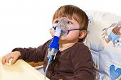 Child Taking Respiratory, Inhalation Therapy