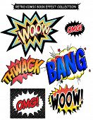 Comic book  effect words collection.