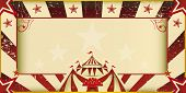 Fantastic grunge circus invitation. An invitation card for your circus company.