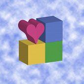 Love Blocks  Clouds
