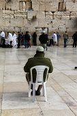 Jewish Worshipers  Pray At The Wailing Wall An Important Jewish Rel