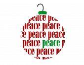 Christmas Peace Text Word Vector Ornament Ball