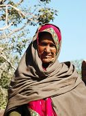 Portrait Of Old Rajasthani Woman Who Are Leaving Annual Camel Mela in Pushkar