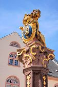Fountain With Lion In Wiesbaden