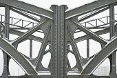 Metal Girders on a Bridge