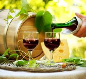 stock photo of lunch  - Wine - JPG