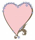 Valentine Frame With Foget-me-not