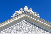 Top Of Baroque Portal At Herzogenburg Monastery Park, Austria