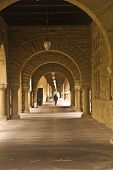 picture of quadrangles  - This is a hallway in the famed Stanford University quadrangle  - JPG