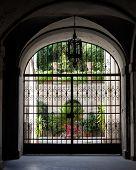 Wrought iron gate, Italian Architecture - Umbria