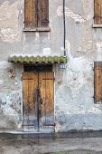 Old house with crumbling facade - Emilia Romagna, Italy