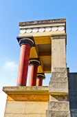 Northern entrance to Knossos palace - profile closeup