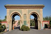 Gate In Traditional Oriental Style In Marrakech