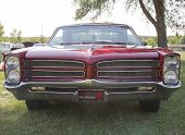 Red 1966 Pontiac Grill View