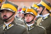 KRAKOW, POLAND - SEP 21: Unidentified participants feast of the Polish cavalry in the National Muse