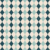 Vector vintage pattern with rhombuses