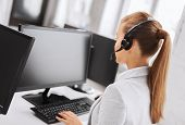 pic of telephone operator  - business - JPG