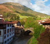 Potes after the rain, Cantabria, Spain.