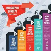 Infographic Business Concept Steps Options - Illustration