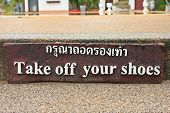 Take Off Your Shoe