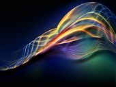 stock photo of sine wave  - Fractal Wave series - JPG