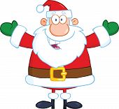 Santa Claus With Open Arms For Hugging