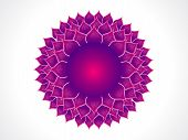 image of chakra  - abstract purple detailed crown chakra vector illustration - JPG