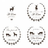 Vintage Labels Collection with Deers