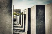 The Holocaust Memorial, Berlin, Germany. Memorial to the Murdered Jews of Europe