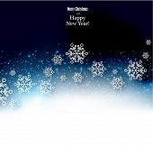 Winter background. Fallen snowflakes. Christmas. Vector.
