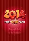 Happy new year 2014! New year design template. All elements are layered separately in vector file. E
